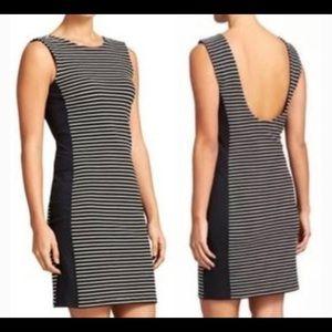 Athleta | Black and White Striped Athletic Dress